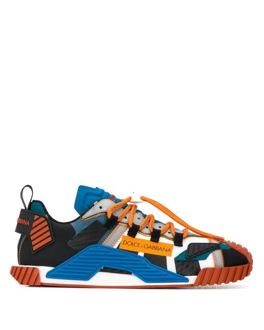 Dolce & Gabbana Blue Ns1 Sneakers In Mixed Materials for men