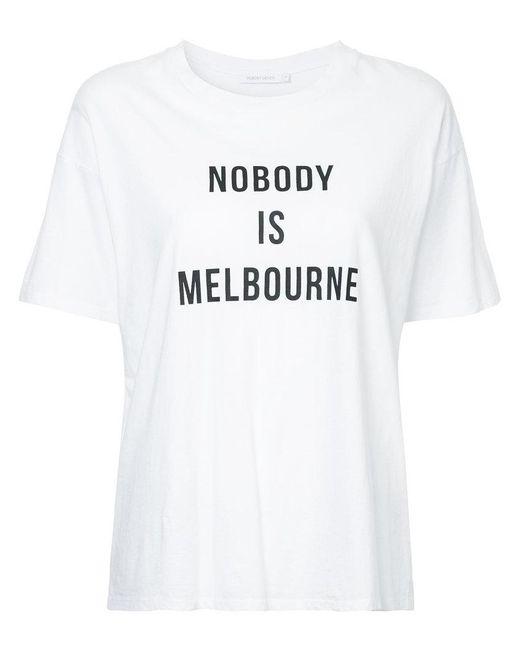 Nobody Denim - White Nobody Is Melbourne T-shirt - Lyst