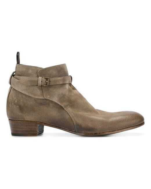 Lidfort - Brown Buckled Boots for Men - Lyst