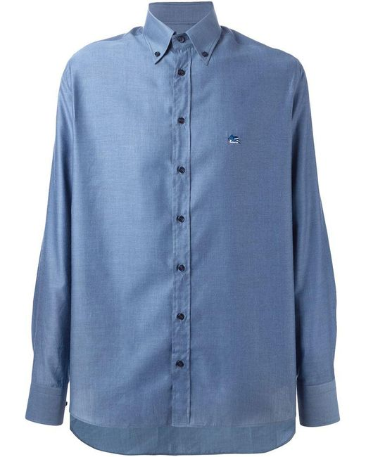 Etro | Blue 'andy' Shirt for Men | Lyst