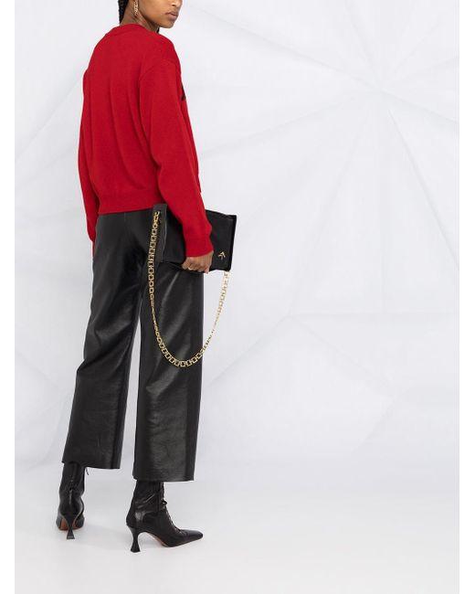 Кашемировый Джемпер Вязки Интарсия С Логотипом Dolce & Gabbana, цвет: Red