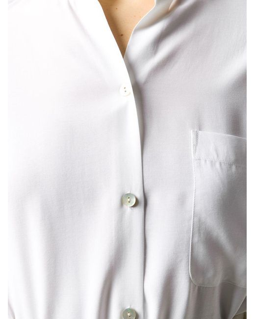 Camisa ajustada de manga larga Vince de color White