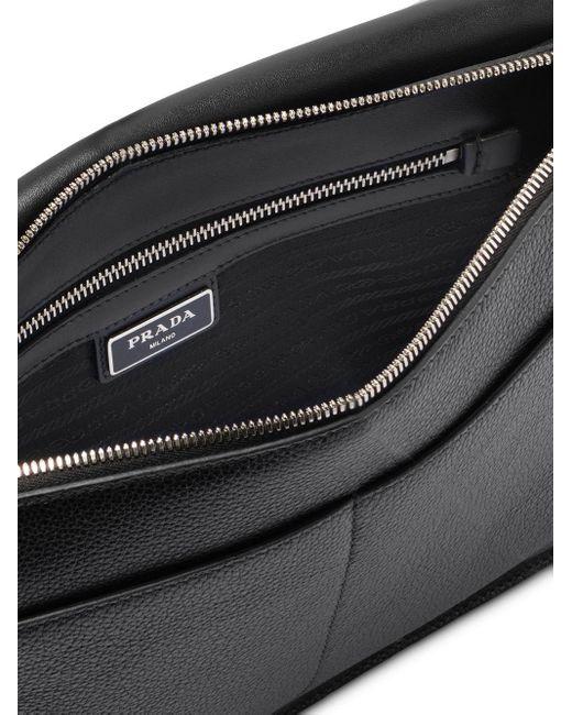 メンズ Prada フラップ メッセンジャーバッグ Black