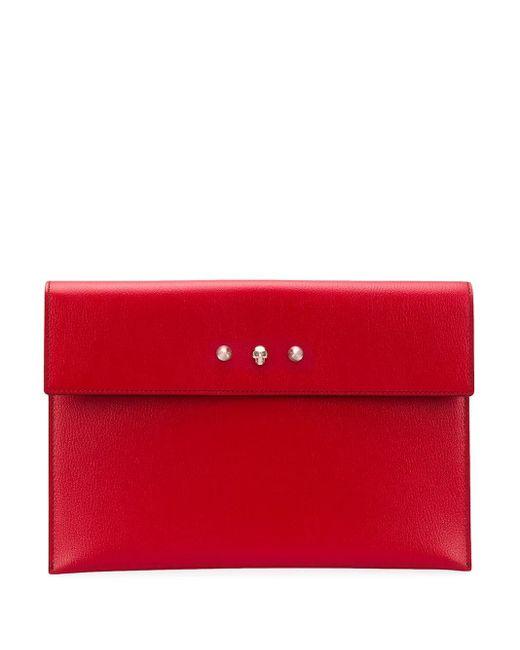 Клатч-конверт С Откидным Клапаном Alexander McQueen, цвет: Red