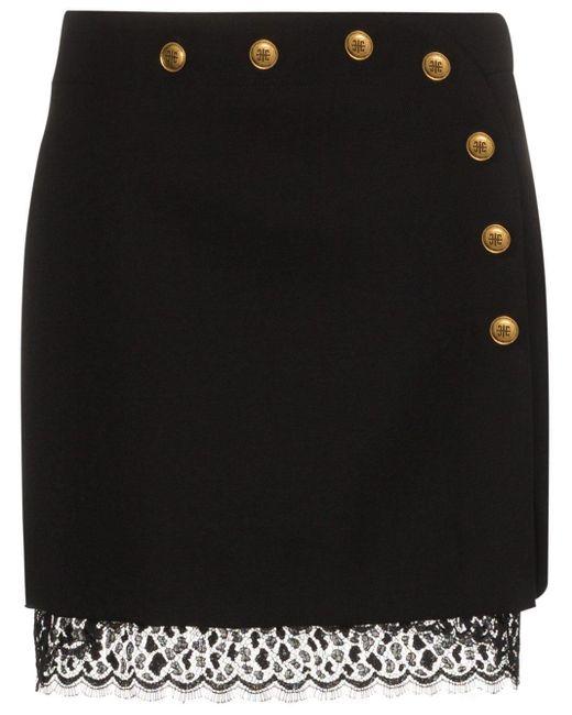 Givenchy ボタンディテール ミニスカート Black