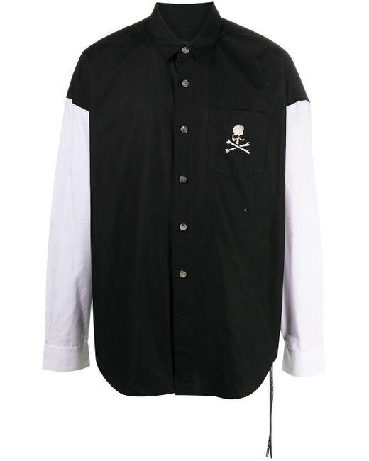 メンズ Mastermind Japan コントラストスリーブ シャツ Black
