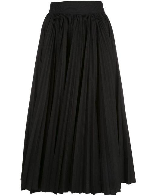 Proenza Schouler プリーツ ポプリンスカート Black