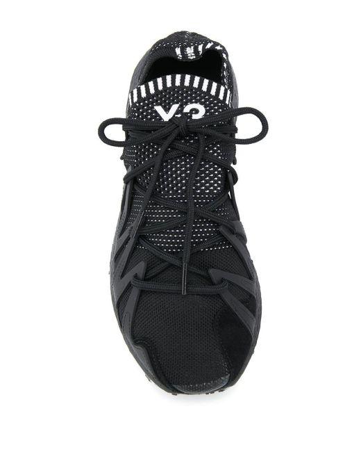 Y-3 ロゴ スニーカー Black