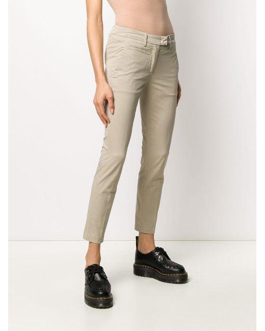 Pantalones slim lisos Dondup de color Gray