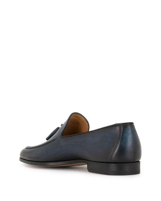 メンズ Magnanni Shoes タッセル ローファー Blue