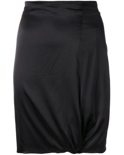 Falda ajustada con detalle drapeado Giorgio Armani de color Black