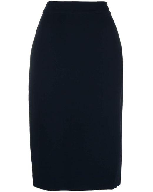 Derek Lam Blue Sora Pencil Skirt