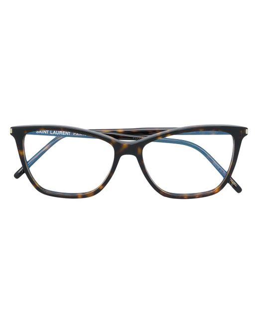 Очки В Квадратной Оправе Saint Laurent, цвет: Brown