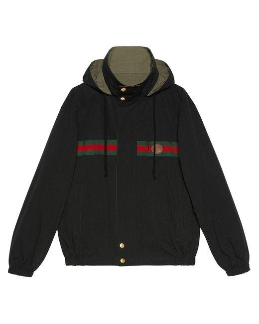 メンズ Gucci リバーシブル ジップジャケット Black