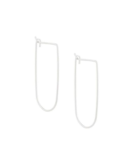 Petite Grand - Metallic Dune Hoops - Lyst