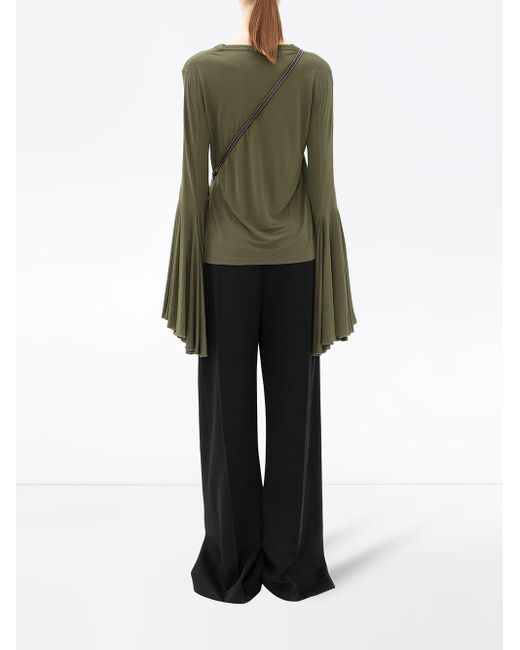 J.W. Anderson Green Bell-sleeves Blouse