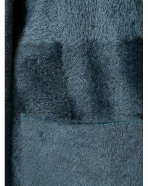 Liska ベルテッド シングルコート Blue