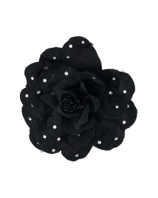 Брошь В Виде Цветка Philosophy Di Lorenzo Serafini, цвет: Black