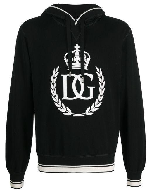 Худи С Принтом Dg King Dolce & Gabbana для него, цвет: Black