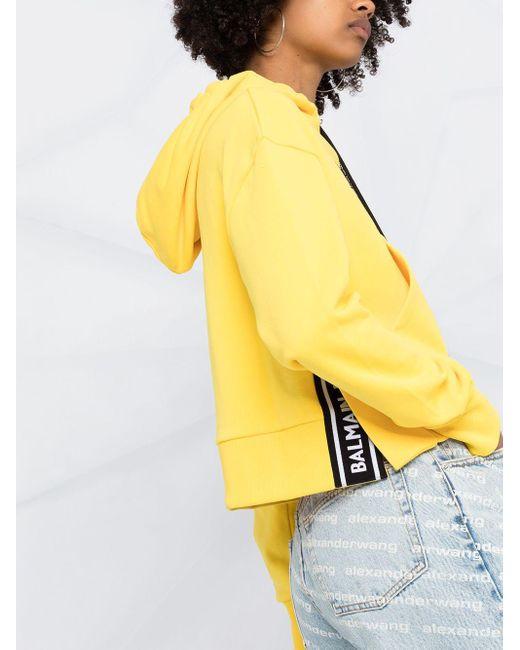 Balmain ロゴ パーカー Yellow