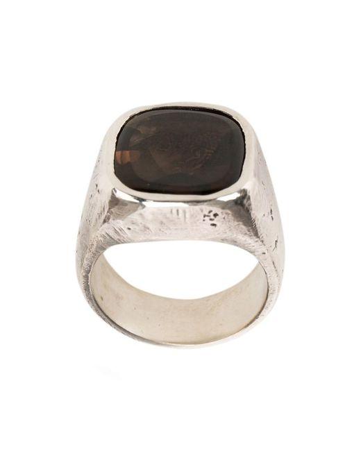Tobias Wistisen   Metallic Stone Embellished Ring for Men   Lyst