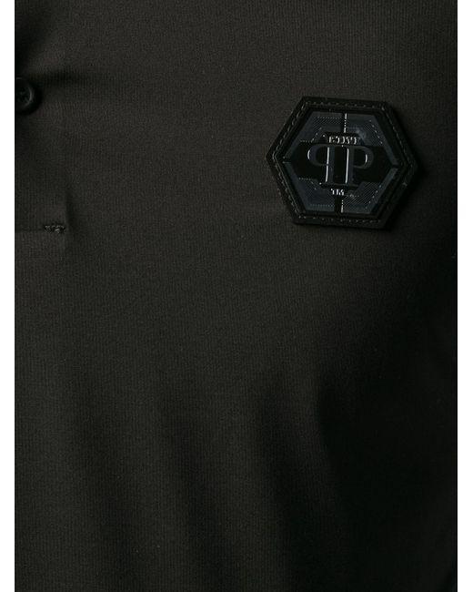 Philipp Plein Poloshirt mit Patch in Black für Herren