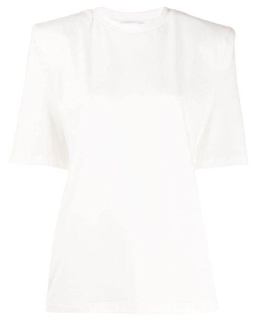 The Attico パワーショルダー Tシャツ White