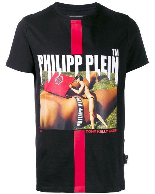 Футболка Tony Kelly Philipp Plein для него, цвет: Black
