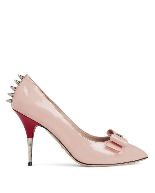 Gucci エナメルレザー パンプス Pink