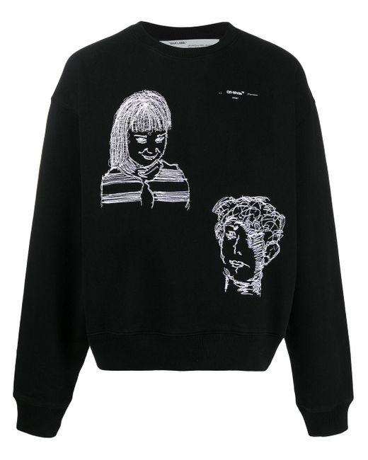 Off-White c/o Virgil Abloh Sweatshirt mit Stickerei in Black für Herren