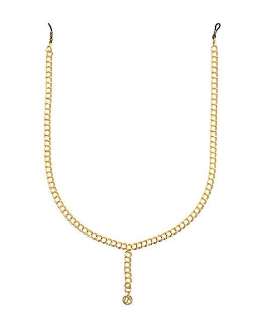 Linda Farrow Lflchain3c2 Yellow Gold Large Chain Metallic
