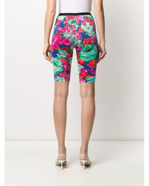 Msgm Women's Floral Print Cycling Shorts