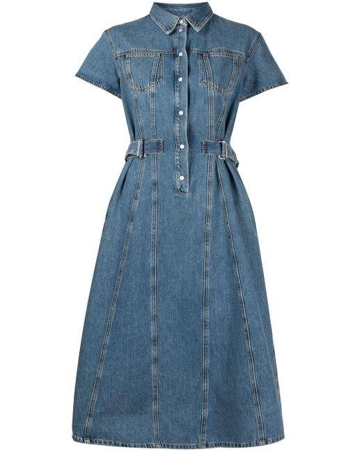 Джинсовое Платье-рубашка MSGM, цвет: Blue