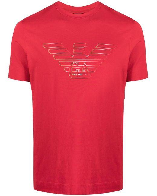 Emporio Armani T-Shirt mit Logo-Print in Red für Herren