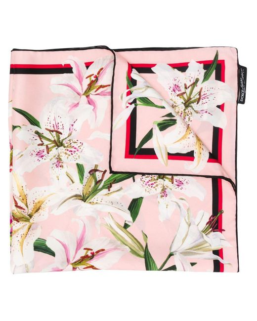 Dolce & Gabbana フローラル スカーフ Pink