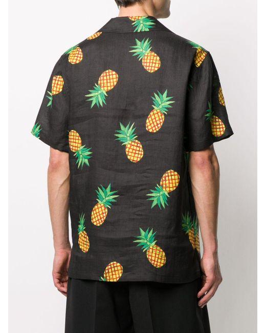 メンズ Dolce & Gabbana プリント ショートスリーブシャツ Black