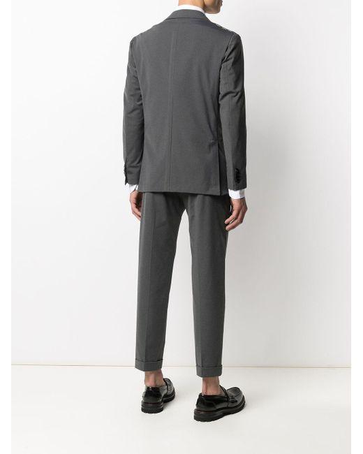メンズ Kiton クロップド スーツ Gray