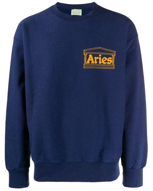 メンズ Aries Temple ロゴ スウェットシャツ Blue