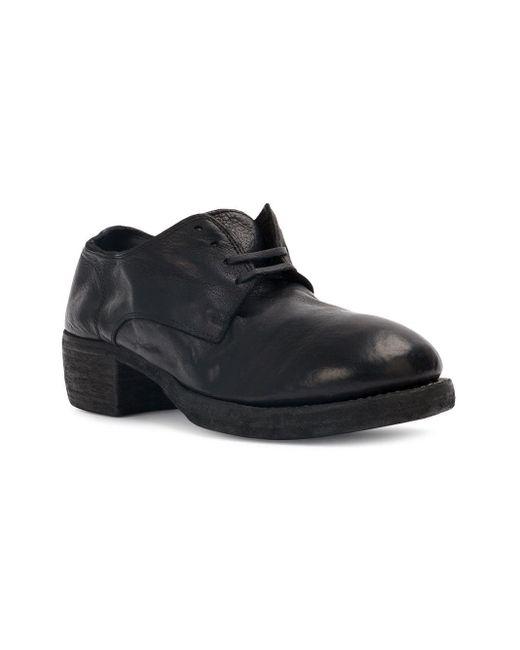 Туфли На Шнуровке Guidi, цвет: Black