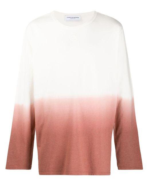 メンズ MARINE SERRE グラデーション ロングtシャツ White