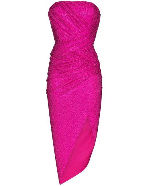 Alexandre Vauthier ギャザー ドレス Pink