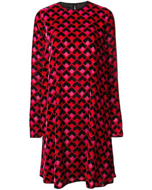 Rochas ロングスリーブ ドレス Red