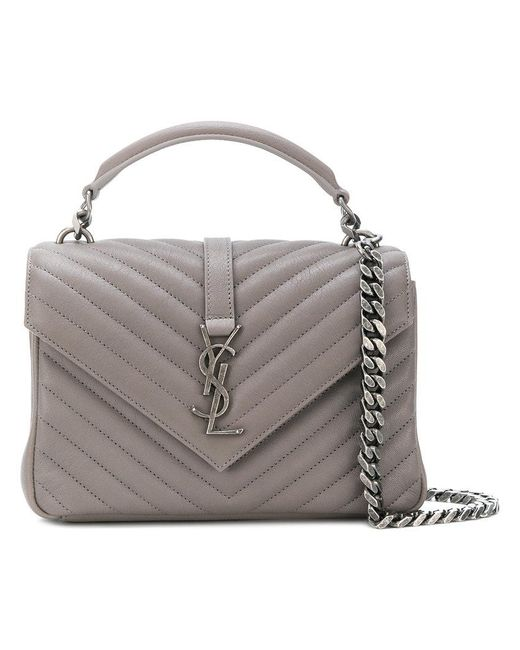 Saint Laurent - Gray College Bag - Lyst