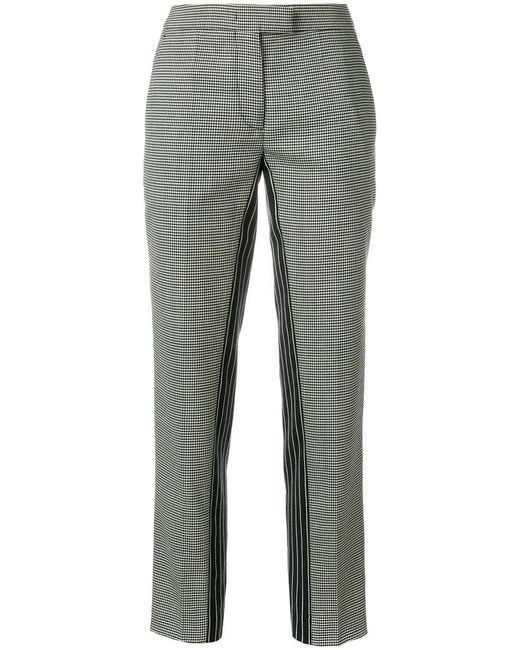 Marco De Vincenzo - Black Patterned Cropped Trousers - Lyst