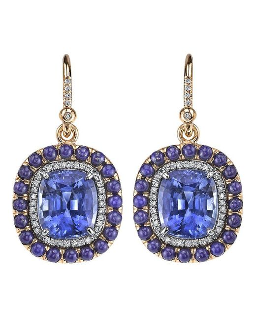 Irene Neuwirth - Blue Lapis Lazuli, Sapphire And Diamond Earrings - Lyst