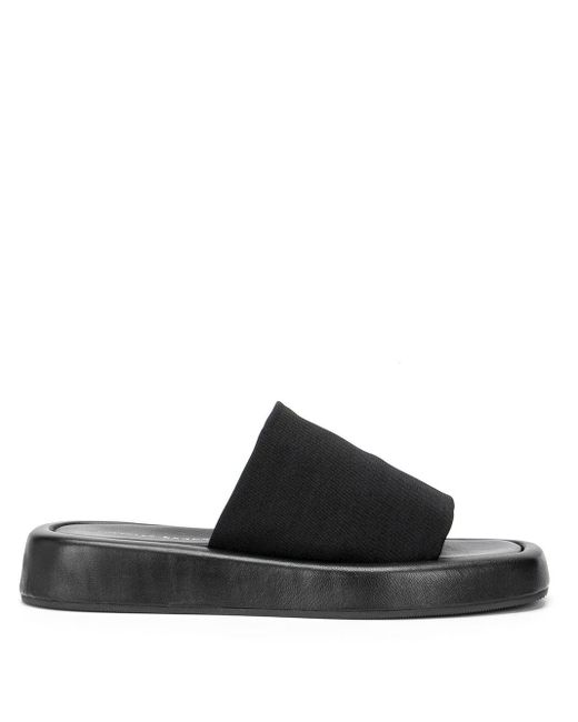 Loeffler Randall Black Square-toe Platform Sandals