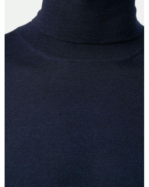 Свитер С Высоким Воротником Brunello Cucinelli для него, цвет: Blue
