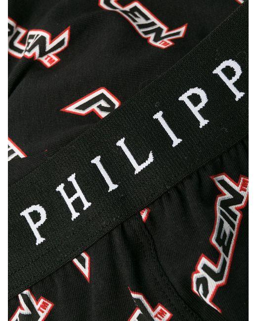 Boxer con stampa di Philipp Plein in Black da Uomo