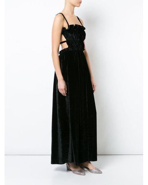 AlexaChung ストラップドレス Black