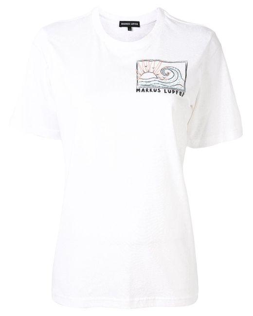 Markus Lupfer ロゴ Tシャツ White